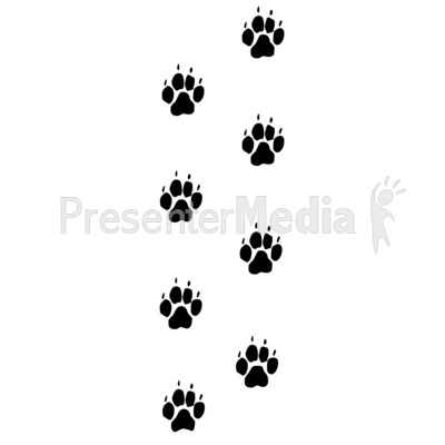 Dog Footprints Trail Presentation clipart