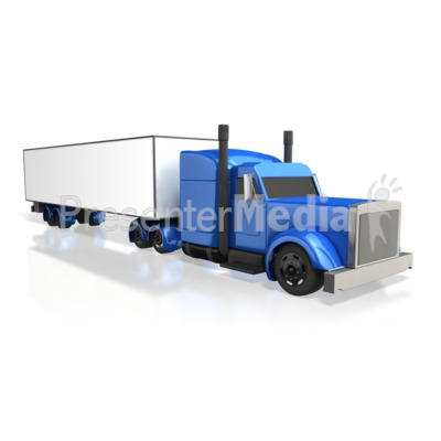 Semi Truck Perspective Presentation clipart