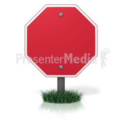 Blank Stop Sign Presentation clipart