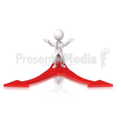 Doctor Figure Choose Direction Presentation clipart