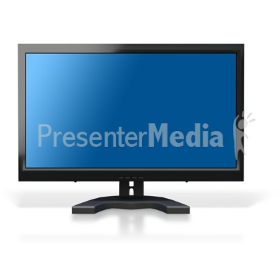 Computer Monitor Blue Screen Presentation clipart