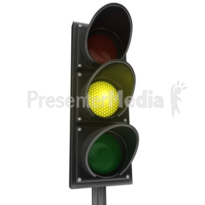 Traffic Light Yellow Yield Presentation clipart