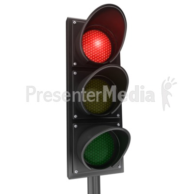 Traffic Light Red Stop Presentation clipart