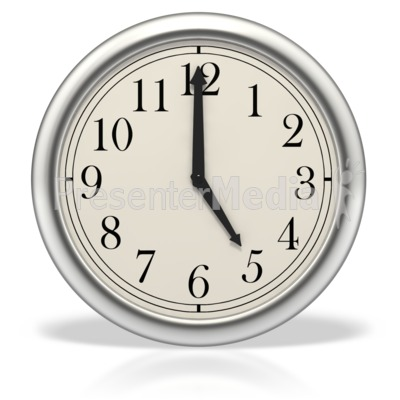 Five o'clock Presentation clipart