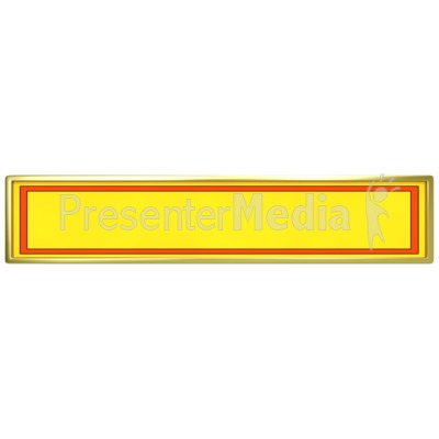 Yellow Panel with Red Border Presentation clipart