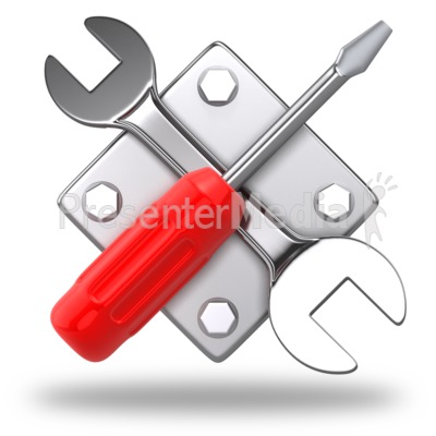 Work Tools Criss Cross Icon Presentation clipart