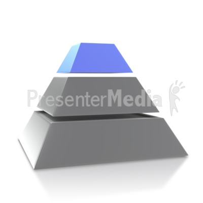 Four Point Pyramid Third Level Presentation clipart