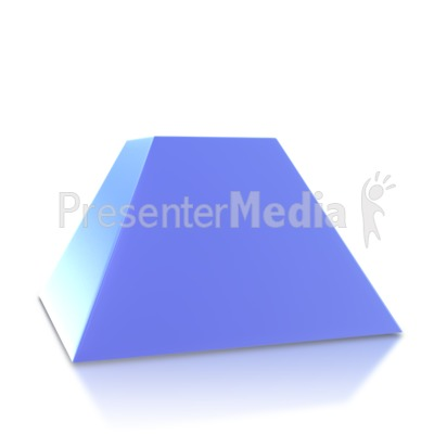 Two Point Pyramid Base Presentation clipart