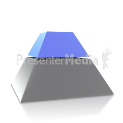 Three Point Pyramid Second Level Presentation clipart