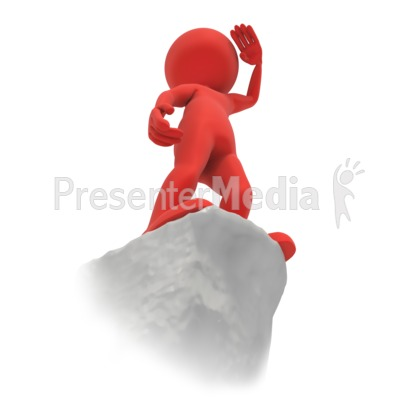 Stick Figure Cliff Vision Presentation clipart