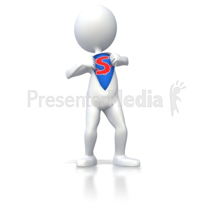 Superhero Stick Figure  Presentation clipart