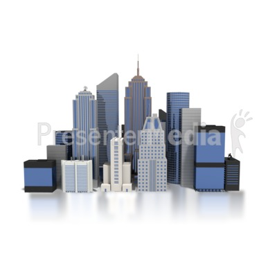 City Downtown Buildings Presentation clipart