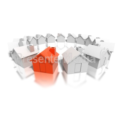 Houses Circle Pick One Presentation clipart