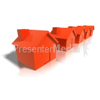 Row Of Houses Presentation clipart