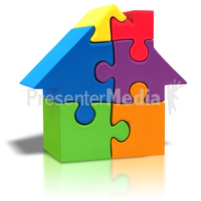 Puzzle Piece House Outline Presentation clipart