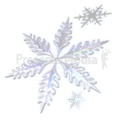 Three Snowflakes Presentation clipart