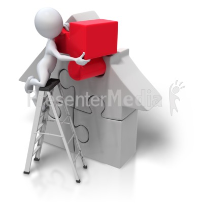 Puzzle Piece House Insert Presentation clipart