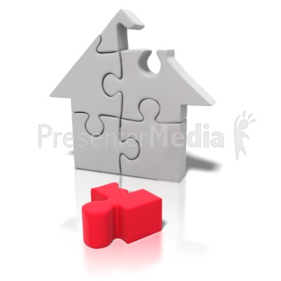 Puzzle Piece House Missing Presentation clipart