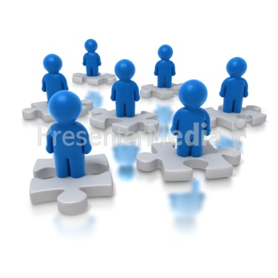 People Puzzle Presentation clipart