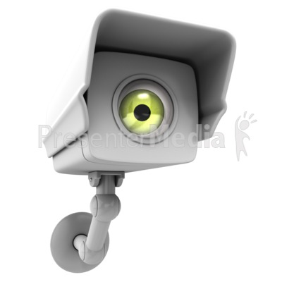 Camera Surveillance Big Brother Presentation clipart