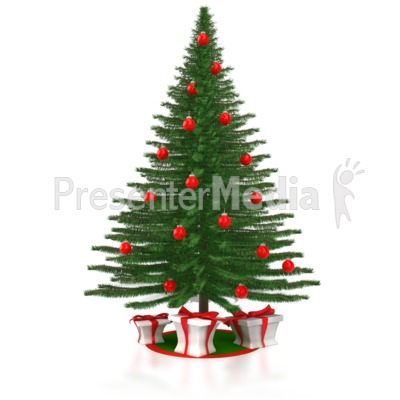 A Christmas Tree with Presents Presentation clipart