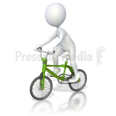 Stick Figure Riding Bmx Bike Presentation clipart