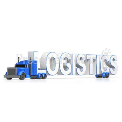 Semi Truck Logistics  Presentation clipart