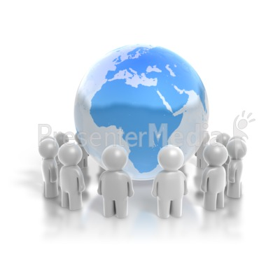 People Ring the Earth Presentation clipart