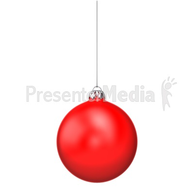 Single Red Christmas Ornament Presentation clipart