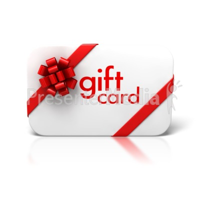 Gift Card Bow Ribbon Front Presentation clipart