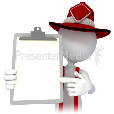 Firefighter Point Chart Presentation clipart