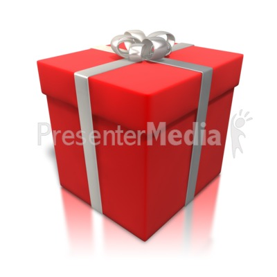 Red Gift Shiny Wrapping Presentation clipart