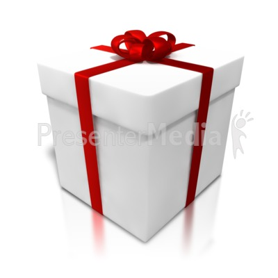 White Gift Shiny Wrapping Presentation clipart