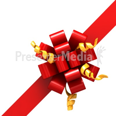 Right Corner Ribbon- Bow Part 2 Presentation clipart
