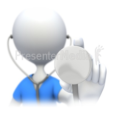 Nurse Doctor Holding Stethoscope Presentation clipart