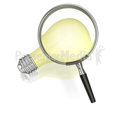 Searching for an Idea Presentation clipart
