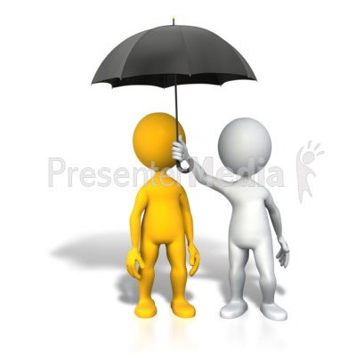 Protection Insurance Umbrella Presentation clipart
