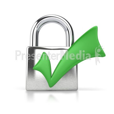 Lock Check Mark Presentation clipart