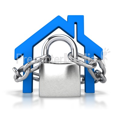 Locked House Outline Presentation clipart