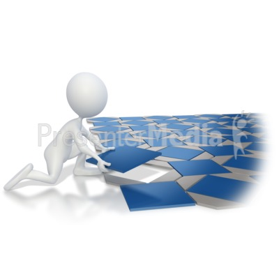Stick Figure Laying Tile Pattern Presentation clipart