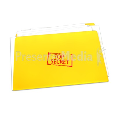 Top Secret Folder Documents Presentation clipart