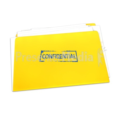 Confidential Folder Documents Presentation clipart