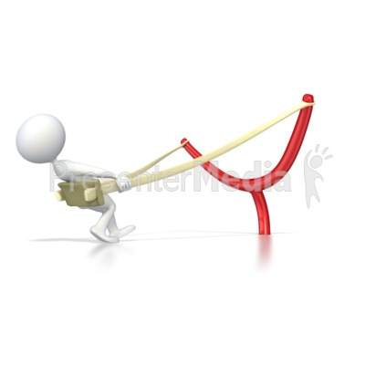 Stick Figure Ready to Launch  Presentation clipart