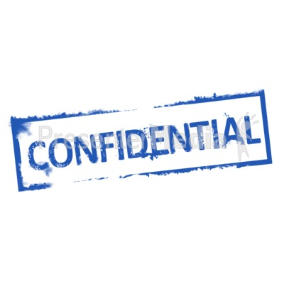 Confidential Rubber Stamp Presentation clipart
