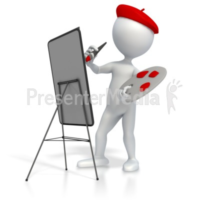 Artist Painting Presentation clipart