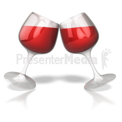 Wine Glass Toast Celebration  Presentation clipart