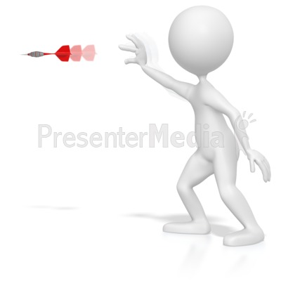 Stick Figure Throwing a Dart Presentation clipart