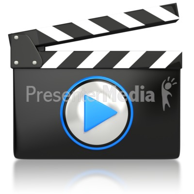 Movie Video Media Icon  Presentation clipart