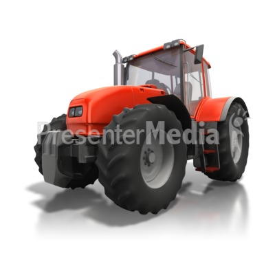 Red Tractor Angle Presentation clipart