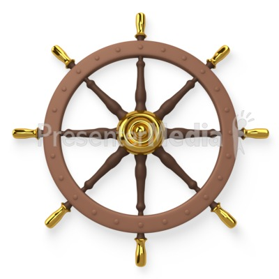 Ship Wheel Helm  Presentation clipart